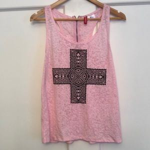 Burnout Pink and Black tank